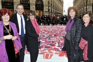 Da sinistra Tiziana Tacconi, Giuseppe Sala, Daria Colombo, Anita Sonego e Filomena Rosiello .