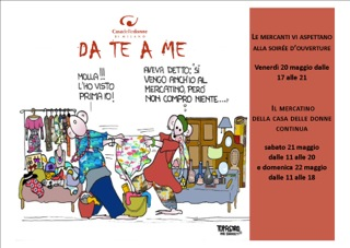 20-22/5 MERCATINO DA TE A ME: Quinta edizione