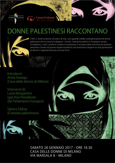 28/1: 5 donne e 5 film raccontano la Palestina