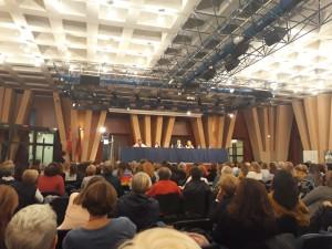 La sala Di Vittorio della Camera del Lavoro di Milano il 2 ottobre