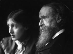 Virginia Woolf con il padre Sir Leslie Stephen