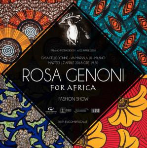 La locandina di un evento di grande successo alla Casa: Rosa Genoni for Africa