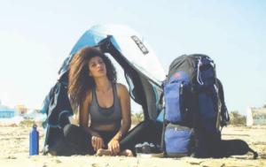 Loubna Bensalah nel deserto