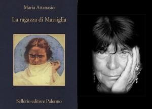 La copertina del libro e un primo piano di Maria Attanasio