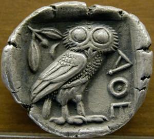 La civetta di Minerva. È il simbolo della filosofia e della saggezza