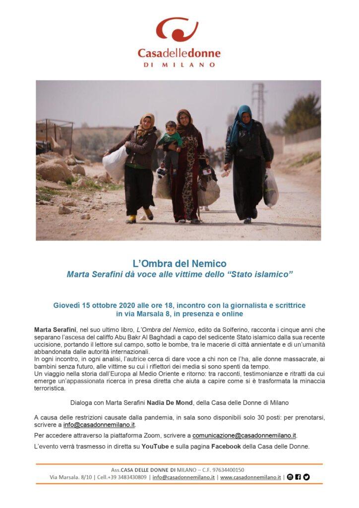 """Presentazione del libro di Marta Serafini """"L'ombra del nemico"""" @ Casa delle Donne di Milano"""