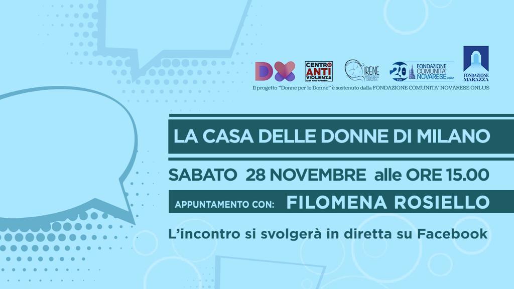 """Evento on line in diretta su Facebook e in collaborazione con la Casa delle Donne di Novara: """"Paure, stereotipi, contraddizioni nella donna vittima di violenza."""""""