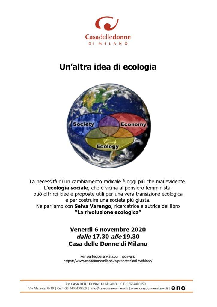Evento on line: Un'altra idea di ecologia