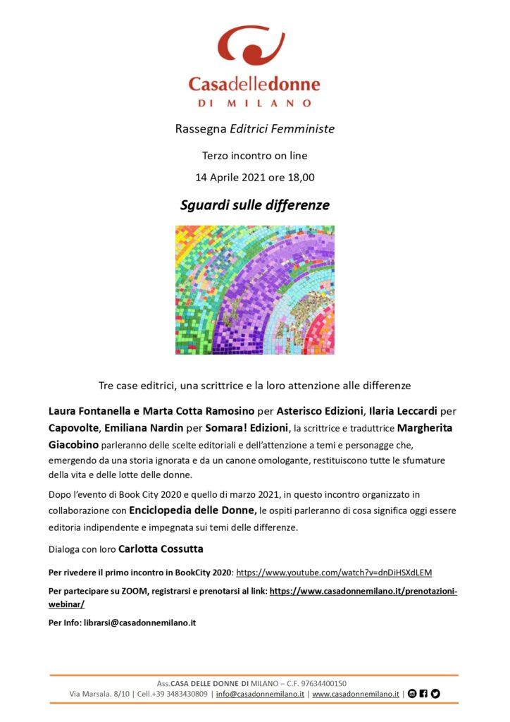 Evento on line: Terzo incontro con le editrici femministe