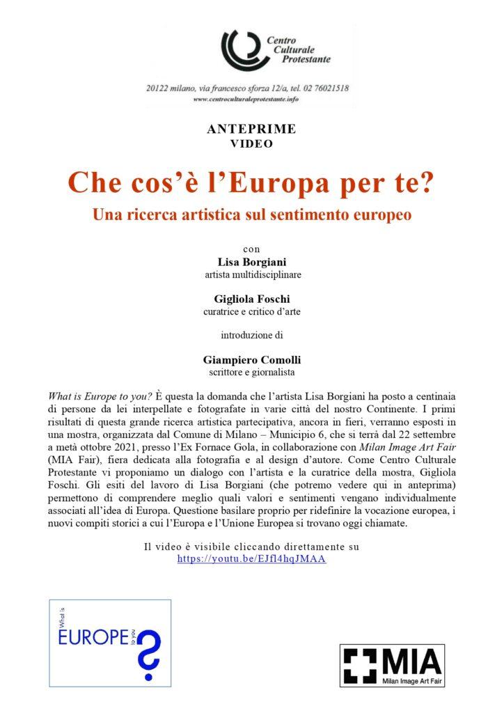 """Apertura della mostra """"Cos'è l'Europa per te?"""" Una ricerca artistica sul sentimento europeo @ Ex Fornace Gola"""