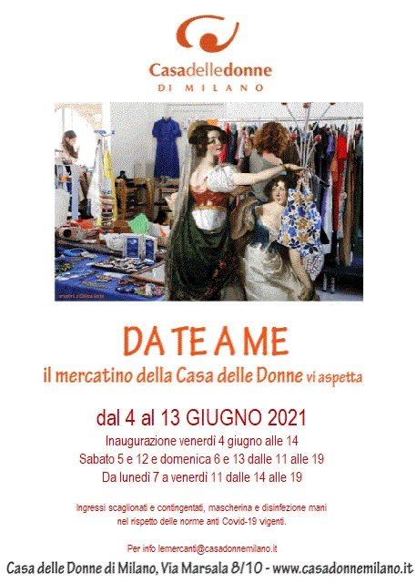 Inaugurazione del Mercatino Da Te a Me @ Casa delle Donne di Milano