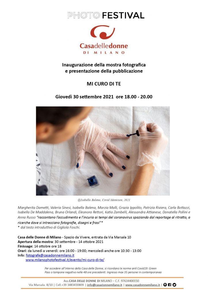 """Inaugurazione della mostra fotografica """"Mi curo di te"""" @ Casa delle Donne di Milano"""