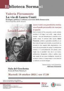 """Presentazione del libro """"La via di Laura Conti"""" di Valeria Fieramonte @ Biblioteca Sormani Sala del Grechetto"""