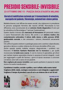Presidio Sensibile-Invisibile. Giornata di mobilitazione nazionale per il riconoscimento di vulvodinia, neuropatia del pudendo, fibromialgia, endometriosi e dolore pelvico